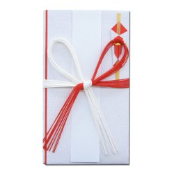 画像1: キ-070 祝金封 段紙 赤白花結十本
