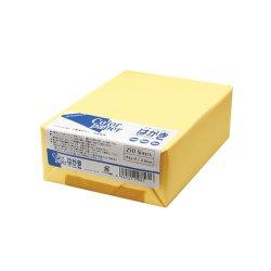 画像1: カラーペーパーはがきサイズ(154g/m2) クリーム(両面無地) 250枚パック