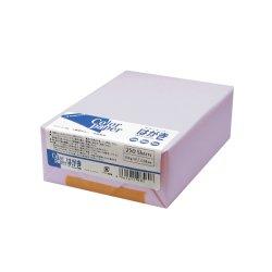 画像1: カラーペーパー はがきサイズ(154g/m2) 藤 (両面無地) 250枚パック