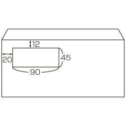 画像2: No.241 マドパック 洋形長3号(洋0)(ホワイト) 35枚パック入