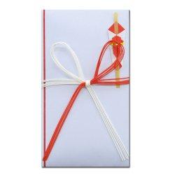 画像1: キ-001 祝金封 赤白花結五本