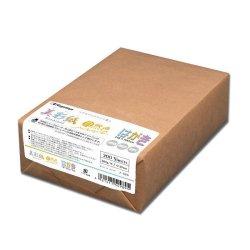 画像1: ナ-989 OAマルチケント紙 美彩紙 はがきサイズ 自然色(ナチュラルホワイト) 200枚包