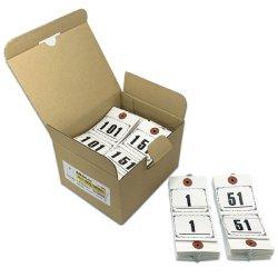 画像1: ニ-3000 長門屋商店 RoHS対応 連番荷札(No.1-500)上質紙 500枚箱入り