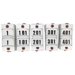 画像3: ニ-3000 長門屋商店 RoHS対応 連番荷札(No.1-500)上質紙 500枚箱入り