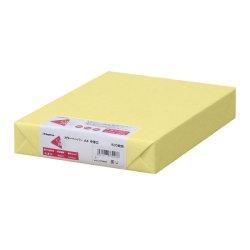 画像1: ナ-3253 カラーペーパー A4 中厚口 クリーム 500枚パック
