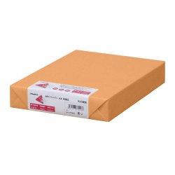 画像1: ナ-3268 カラーペーパー A4 中厚口 オレンジ 500枚パック
