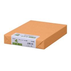画像1: ナ-3368 カラーペーパー A4 厚口 オレンジ 500枚パック