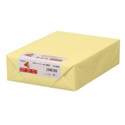 画像1: ナ-3453 カラーペーパー A4 特厚口 クリーム 500枚パック