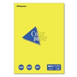画像1: ナ-3505 カラーペーパー A4 最厚口 黄 25枚パック