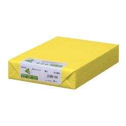 画像1: ナ-4355 カラーペーパー B5 厚口 黄 500枚パック