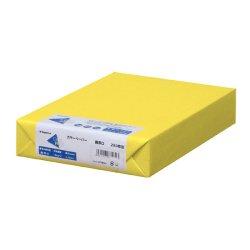 画像1: ナ-3555 カラーペーパー A4 最厚口 黄 250枚パック