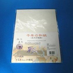 画像1: 千年の和紙(非木材繊維)みつまた A4 20枚入